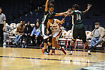 Ole Miss Lady Rebels' Diara Moore (10) vs. Mississippi Valley State's Alia Frank (22) and Mississippi Valley State's Khristina Clemons (14) at the C.M. &quot;Tad&quot; Smith Coliseum in Oxford, Miss. on Tuesday, November 27, 2012.