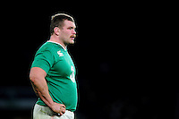 Jack McGrath of Ireland looks on during a break in play. RBS Six Nations match between England and Ireland on February 27, 2016 at Twickenham Stadium in London, England. Photo by: Patrick Khachfe / Onside Images