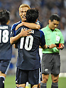 Keisuke Honda, June 8, 2012, Saitama, Japan : Keisuke Honda  celebrates with His team mate Shinji Kagawa after his second scoring in the first half during the match between Japan and Jordan of FIFA World Cup Brazil Asian Qualifier at Saitama Stadium in Saitama prefecture, Japan, on June 8, 2012...(Photo by AFLO)