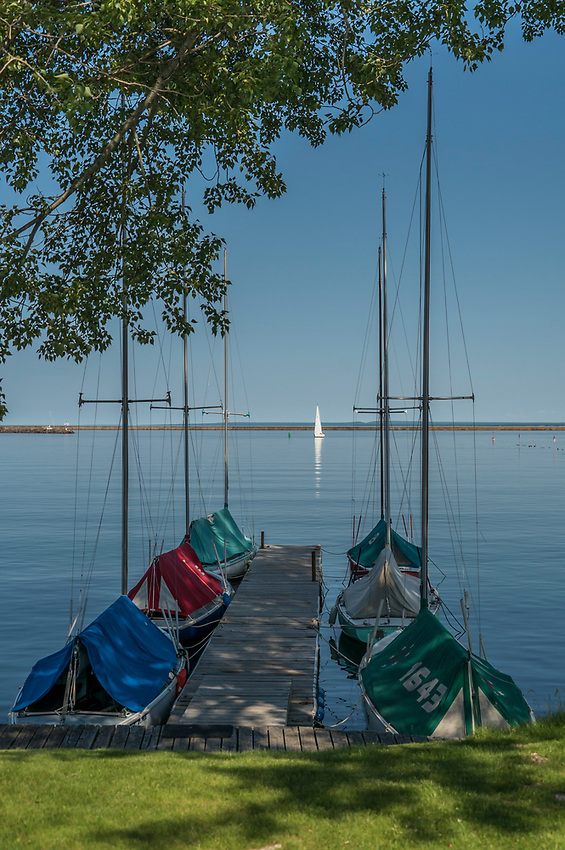 Marquette, Michigan's Lower Harbor on Lake Superior.
