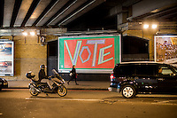 Stickers, Posters, Banners, Russell Brand, Occupy Statues, Class War…An Invisible Electoral Campaign