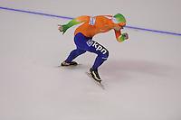 SCHAATSEN: CALGARY: Olympic Oval, 10-11-2013, Essent ISU World Cup, 500m, Jesper Hospes (NED), ©foto Martin de Jong
