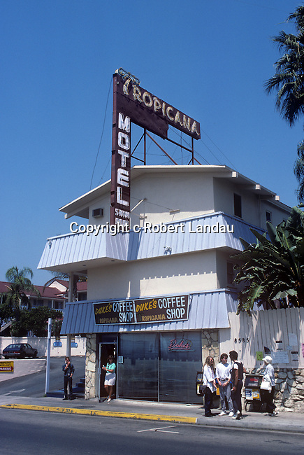 Duke's coffee shop at the Tropicana Hotel on Santa Monica Blvd. in West Hollywood, CA circa 1985