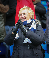 A Bolton Wanderers fan applauds her team at full time<br /> <br /> Photographer Alex Dodd/CameraSport<br /> <br /> The EFL Sky Bet League One - Bolton Wanderers v Northampton Town - Saturday 18th March 2017 - Macron Stadium - Bolton<br /> <br /> World Copyright &copy; 2017 CameraSport. All rights reserved. 43 Linden Ave. Countesthorpe. Leicester. England. LE8 5PG - Tel: +44 (0) 116 277 4147 - admin@camerasport.com - www.camerasport.com