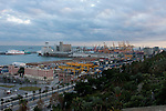 Port view from montjuic park of Barcelona by Christopher Holt
