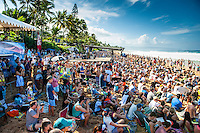 PIPELINE, Oahu/Hawaii (Saturday, December 14, 2013) - Kelly Slater (USA), 41, has won his 7th Billabong Pipe Masters in Memory of Andy Irons after a day of incredible 10-to-15 foot (three to four metre) waves at Pipeline today. Slater defeated John John Florence (HAW), 21, in a hard-fought, 35-minute Final that ended with less than half-a-point separating the two. The runner-up finish for Florence saw him crowned 2013 Vans Triple Crown of Surfing champion.<br /> <br /> The final day of the Billabong Pipe Masters capped off the 2013 ASP World Championship Tour (WCT) season in fine style, with epic conditions providing the ideal backdrop for the crowning of Mick Fanning (AUS), 32, as the ASP World Champion. It also finalized the ASP Top 34 roster for 2014. Fanning finished third overall, defeated by Florence in their Semifinal.<br /> With tens of thousands packing the beach at Pipeline, and the gravitas of Slater&rsquo;s 56th elite tour victory apparent, the greatest athlete the sport has ever produced was emotional on the final day of 2013.<br /> <br /> Fanning&rsquo;s road to the 2013 ASP World Title was nothing short of spectacular on the final day of competition. Finding himself behind during both his Round 5 and Quarterfinals bouts, the iron-nerved Australian nailed huge Pipeline scores in both occasions to take the heat wins and his third world surfing crown.<br /> <br /> &ldquo;I&rsquo;ve never put myself in the same circles as Tom Curren and Andy Irons,&rdquo; Fanning said. &ldquo;Tom (Curren) is such an enigma and was so instrumental to injecting style into our sport. Andy (Irons)&hellip;what hasn&rsquo;t been said about Andy? He was such a legend and he was such a good friend. I&rsquo;m honored to be a part of this group. I was happy with one title and I was overwhelmed with two. With three? I don&rsquo;t have words for that.&rdquo;<br /> <br /> Today marked John John Florence&rsquo;s second Vans Triple Crown Title, but his runner-up in the final event force