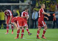 FUSSBALL   1. BUNDESLIGA   SAISON 2013/2014   SUPERCUP Borussia Dortmund - FC Bayern Muenchen           27.07.2013 Enttaeuschung FC Bayern; Bastian Schweinsteiger (li) und Arjen Robben