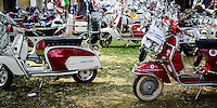 Vintage Scooters at the Annual Isle of Wight Scooter Rally, Britain - Aug 2013