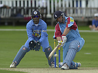 .24/06/2002.Sport - Cricket - .One day game 50 overs - Kent CC vs India.St Lawrence Ground - Canterbury.Mark Ealham