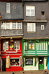 Harbour side restauarants and shops. Honfleur, Normandy, France.