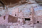 An unnamed multi story ruin in Grand Gulch, Utah. <br /> At one time this canyon complex was a metropolis of ancient life, and signs of their occupation here are very apparent.