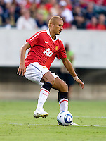 Wes Brown. Manchester United defeated Philadelphia Union, 1-0.