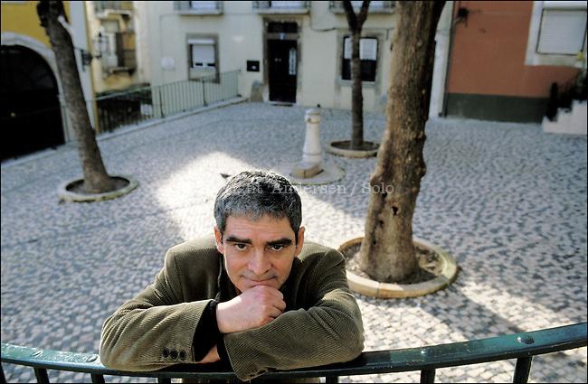 Mario de Carvalho in Lisbon streets.