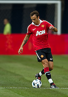 July 16, 2010 Dimitar Berbatov No.9 of Manchester United during an international friendly between Manchester United and Celtic FC at the Rogers Centre in Toronto.