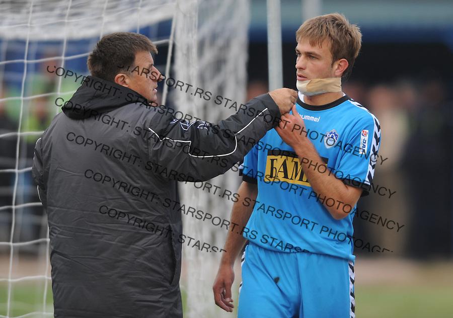 Fudbal, Jelen Super liga, sezona 2009/2010.BSK Borca Vs. Spartak (Zlatibor voda).Milos Milojevic, right.Beograd, 17.10.2009..foto: Srdjan Stevanovic/Starsportphoto ©