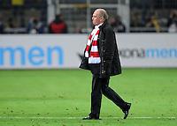 FUSSBALL   1. BUNDESLIGA  SAISON 2011/2012  30. SPIELTAG 11.04.2012 Borussia Dortmund -  FC Bayern Muenchen Enttaeuschung Praesident Uli Hoeness (FC Bayern Muenchen)
