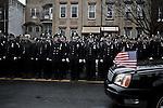 1/4/2015 Yunghi Kim/Contact Press Images. New York.  Funeral for Wenjian Liu in Brooklyn N.Y. Officer Wenjian Liu and Rafael Ramos were shot and killed in their patrol car by Ismaaiyl Brinsley in the Bedford-Stuyvesant.