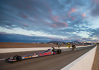 Oct 28, 2016; Las Vegas, NV, USA; NHRA top fuel driver Antron Brown during qualifying for the Toyota Nationals at The Strip at Las Vegas Motor Speedway. Mandatory Credit: Mark J. Rebilas-USA TODAY Sports