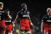 Maro Itoje of Saracens looks on during a break in play. Aviva Premiership match, between Saracens and Worcester Warriors on November 28, 2015 at Twickenham Stadium in London, England. Photo by: Patrick Khachfe / JMP