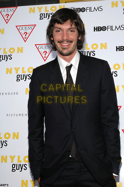 """LUKAS HAAS.The premiere of the new film, """"Last Days"""", at The Sunshine Theater in Manhattan, New York, New York..July 19th, 2005.Photo Credit: Patti Ouderkirk/AdMedia.half length goatee mustache facial hair black suit jacket.www.capitalpictures.com.sales@capitalpictures.com.© Capital Pictures."""