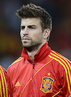 FUSSBALL  EUROPAMEISTERSCHAFT 2012   VIERTELFINALE Spanien - Frankreich      23.06.2012 Gerard Pique (Spanien)
