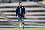 04 October 2016: UNCW's head coach Aidan Heaney (ENG). The University of North Carolina Tar Heels hosted the UNC Wilmington Seahawks at Fetzer Field in Chapel Hill, North Carolina in a 2016 NCAA Division I Men's Soccer match. UNC won the game 1-0.