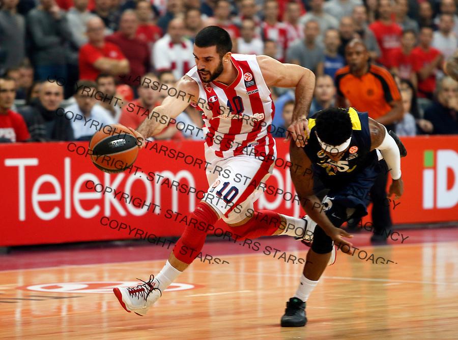Branko Lazic Euroleague basketball game between Crvena Zvezda and Fenerbahce on Novembar 6. 2015 Beograd, Srbija, 6.11.2015.  (credit image & photo: Pedja Milosavljevic / STARSPORT)