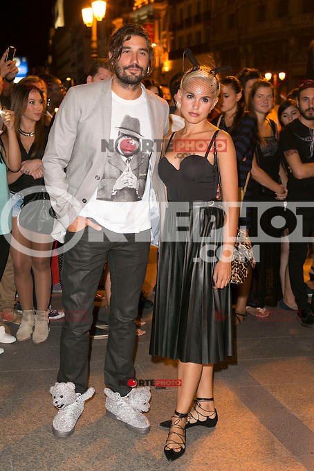 Alex Garcia and Veronica Echegui attends the party of Nike and Roberto Tisci at the Casino in Madrid, Spain. September 15, 2014. (ALTERPHOTOS/Carlos Dafonte) /NortePhoto.com