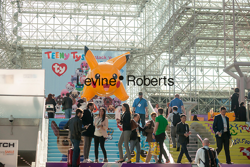 The 114th North American International Toy Fair in the Jacob Javits Convention center in New York on Sunday, February 19, 2017.  The four day trade show with over 1000 exhibitors connects buyers and sellers and draws tens of thousands of attendees.  The toy industry generates over $26 billion in the U.S. alone and Toy Fair is the largest toy trade show in the Western Hemisphere. (© Richard B. Levine)