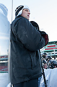 Jamie Russell (PC - Assistant Coach) -  - The participating teams in Hockey East's first doubleheader during Frozen Fenway practiced on January 3, 2014 at Fenway Park in Boston, Massachusetts.