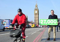 Picture by Simon Wilkinson/SWpix.com - 16/03/2017 - Cycling British Cycling, Turning the Corner petition hand in Westminster, Chris Boardman and Phil Jones  and MP Ruth Cadbury meeting