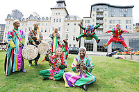 23/7/2020. Moroccan group NAJIB SOUDANI are pictured at the launch of  The Dún Laoghaire Festival of World Cultures 10th anniversary Festival at the Royal Marine Hotel, Dún Laoghaire.  The 10th annual Festival of World Cultures opens Friday July 23 and runs until Sunday July 25, 2010. Picture James Horan/Collins Photos