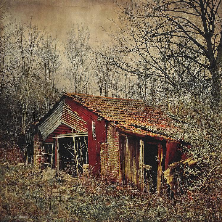 Vintage americana farm building
