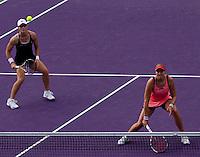 Sam STOSUR (AUS) and Nadia PETROVA (RUS) against Gisela DULKO (ARG) and Flavia PENNETTA (ITA) in the finals of the women's doubles. Gisela Dulko & Flavia Pennetta beat Nadia Petrova & Sam Stosur 4-6 (10-7)...International Tennis - 2010 ATP World Tour - Sony Ericsson Open - Crandon Park Tennis Center - Key Biscayne - Miami - Florida - USA - Sun 4 Apr 2010..© Frey - Amn Images, Level 1, Barry House, 20-22 Worple Road, London, SW19 4DH, UK .Tel - +44 20 8947 0100.Fax -+44 20 8947 0117