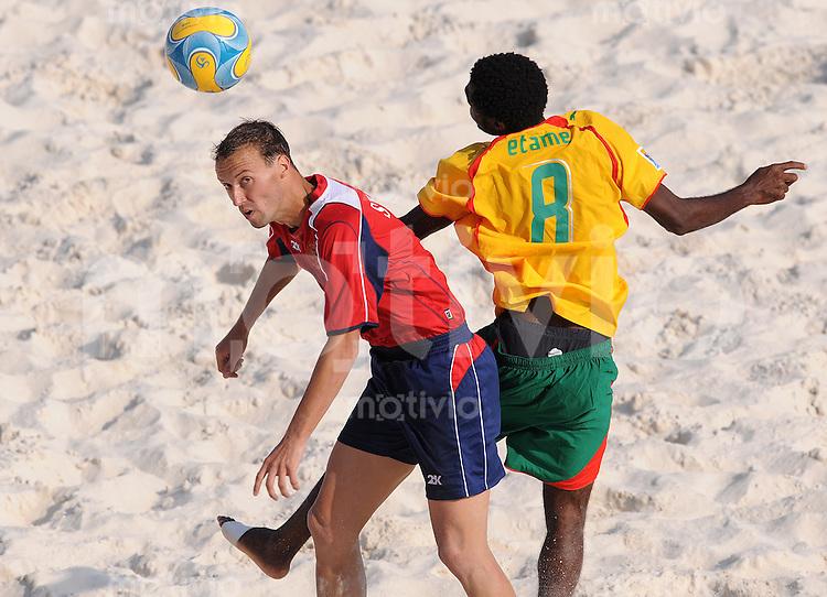 FIFA BEACH SOCCER WORLD CUP 2008 CAMEROON - RUSSIA   20.07.2008 Egor SHAYKOV (RUS, l) against Joan ETAME (CMR).