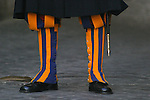 Colorful Boot Covers of the Swiss Guard, front view
