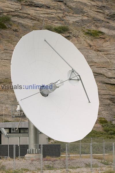 A satelite dish at Kangerlussuaq, Greenland