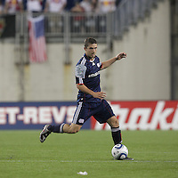 New England Revolution midfielder Chris Tierney (8) at midfield. The New England Revolution defeated the New York Red Bulls, 3-2, at Gillette Stadium on May 29, 2010.