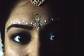 The bride, Ratna eyes, on the fourth day of her Hindu Vedic Marriage ceremony. photo by jane therese