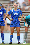 22 August 2014: Duke's Morgan Reis. The Duke University Blue Devils played The Ohio State University Buckeyes at Fetzer Field in Chapel Hill, NC in a 2014 NCAA Division I Women's Soccer match. Ohio State won the game 1-0.