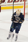 Vince Hinostroza (ND - 13) - The Boston College Eagles defeated the visiting University of Notre Dame Fighting Irish 4-2 to tie their Hockey East quarterfinal matchup at one game each on Saturday, March 15, 2014, at Kelley Rink in Conte Forum in Chestnut Hill, Massachusetts.