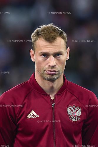 Vasili Berezutski (Russia) ; <br /> June 15, 2016 - Football : Uefa Euro France 2016, Group B, Russia 1-2 Slovakia at Stade Pierre Mauroy, Lille Metropole, France. (Photo by aicfoto/AFLO)