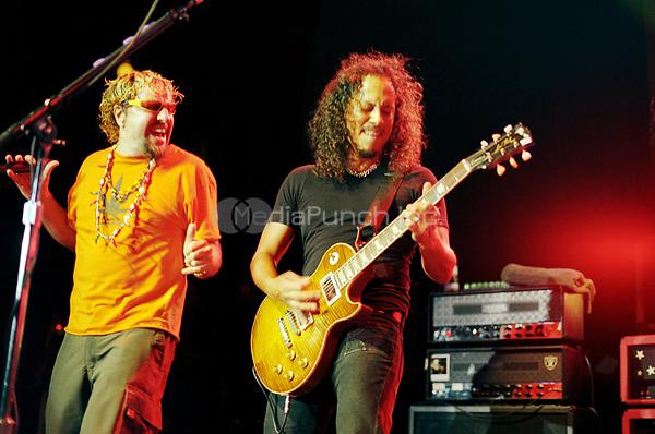 Sammy Hagar and Kirk Hammet<br /> May 7, 2002<br /> **NO GERMANY**<br /> &copy; Jay Blakesberg / MediaPunch