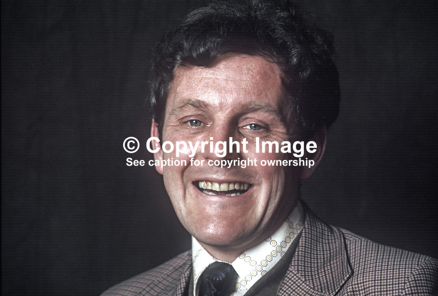 Sean Hollywood, SDLP, candidate, N Down, Constitutional Convention Election, N Ireland, May 1975. 197505010298a..Copyright Image from Victor Patterson, 54 Dorchester Park, Belfast, United Kingdom, UK...For my Terms and Conditions of Use go to http://www.victorpatterson.com/Victor_Patterson/Terms_%26_Conditions.html