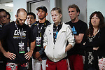Fighters pre-fight briefing backstage<br />