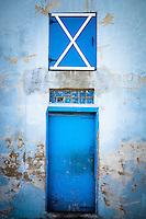 Blue door on McGovern's Garage in Shakopee