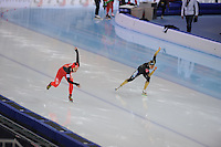 SPEEDSKATING: SOCHI: Adler Arena, 24-03-2013, Essent ISU World Championship Single Distances, Day 4, 500m Ladies, Hong Zhang (CHN), Miyako Sumiyoshi (JPN), © Martin de Jong