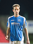 St Johnstone FC Season 2012-13.Steven MacLean.Picture by Graeme Hart..Copyright Perthshire Picture Agency.Tel: 01738 623350  Mobile: 07990 594431
