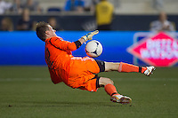 Chase Harrison of the Philadelphia Union during a match between Aston Villa FC and Philadelphia Union at PPL Park in Chester, Pennsylvania, USA on Wednesday July 18, 2012. (photo - Mat Boyle)