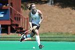 30 August 2014: Iowa's Natalie Cafone. The Wake Forest University Demon Deacons played the University of Iowa Hawkeyes at Francis E. Henry Stadium in Chapel Hill, North Carolina as part of the ACC/Big 10 Challenge and an 2014 NCAA Division I Field Hockey match. Iowa won the game 4-1.